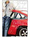 Greetings Card - To a Wonderful Grandson, Birthday Wishes (JJ5564)
