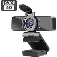 Dericam Webcam, 1080P Webcam mit Mikrofon, USB Computer Webkamera, Plug and Play Desktop und Laptop Webcam für Windows…