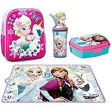 b723566602 Disney Frozen Elsa e Olaf set Zaino Zainetto in 3D Portamerenda Asilo,Scuola  Materna