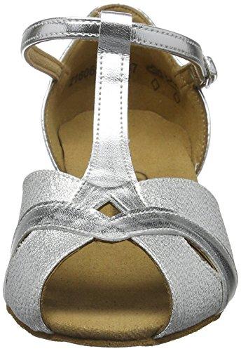 Diamant Mädchen Tanzschuhe 031-030-045 Standard & Latein Silber (Silber)