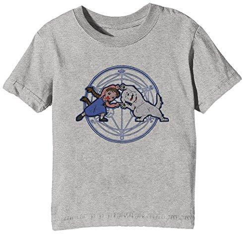 Vollmetall Verschmelzung HA! Kinder Unisex Jungen Mädchen T-Shirt Rundhals Grau Kurzarm Größe M Kids Boys Girls Grey Medium Size M Chimera Medium Video