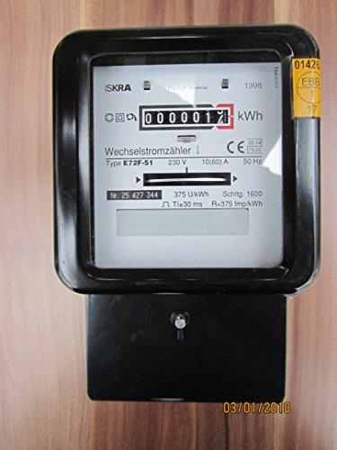 Wechselstromzähler 10/60 Amp. geeicht mit Rücklaufsperre und Impulsgeber / Art.-Nr.: 110014
