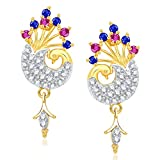 VK Jewels Red & Blue Stones Peacock Gold...