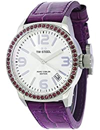 TW Steel Marc Coblen Edition mit Lederband 42 MM Silver/Purple MCPR2