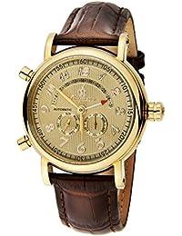 Burgmeister Nevada BM105-295 - Reloj de caballero automático, correa de piel color marrón