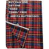 Shri krishan kripa handloom Mattress Cover for Single Bed, 72x36x4 Inches(Multicolour) - Pack of 1