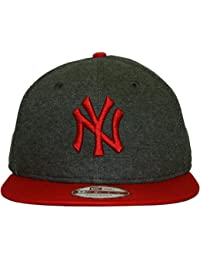 New Era - Casquette Snapback Homme New York Yankees 9Fifty Fleecicle -  Grey Scarlet 100d03f9932a