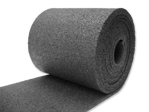 Preisvergleich Produktbild Gummigranulatmatte, Bautenschutzmatte, Antivibrationsmatte, Antirutschmatte in einer Stärke von 6 mm (5.00m X 25cm)
