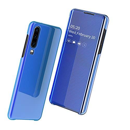 Nadoli Mirror Hülle für Galaxy Note 10,Luxus Ultradünn Clear View Vorderseite und Hart Zurück Spiegel Schlank Flip Schutzhülle Etui für Samsung Galaxy Note 10