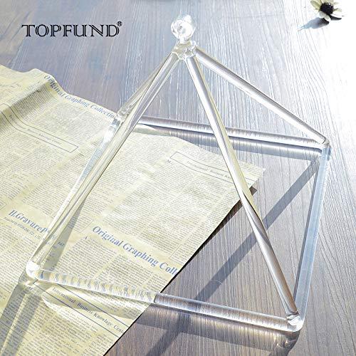 TOPFUND Klangpyramide aus Kristallquarz, 30,5 cm, perfekte Heilung, Musikinstrument-Schlägel im Lieferumfang enthalten - bester Klang und Material