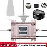 KKmoon CDMA/PCS 850 / 1900MHz 2G / 3G/4G Amplificatore del Segnale del Telefono Cellulare con Doppio Display LCD a Doppia banda Telefono Cellulare Booster Segnale Ripetitore Set di Amplificatori