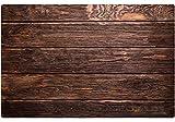 matches21 Holzoptik Tischsets Platzsets MOTIV Holzbretter/Holzdielen / dunkles Holz 4er Set Kunststoff je 43,5x28,5 cm abwaschbar