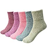 JT-Amigo 5er Pack Damen Socken Thermo Wintersocken