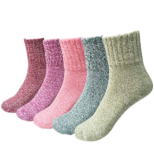 JT-Amigo 5er Pack Damen Socken Thermo Wintersocken (Thermo-socken Für Damen)