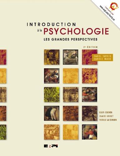 Intro  la psychologie 2e Ed - les grandes perspectives