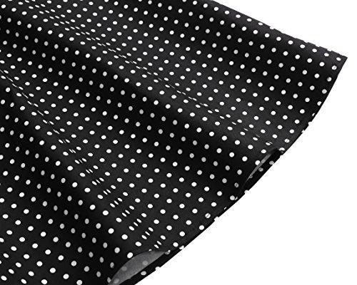 Dresstells Neckholder Rockabilly 50er Polka Dots Punkte 1950er Kleid Petticoat Faltenrock Black Small White Dot L - 6