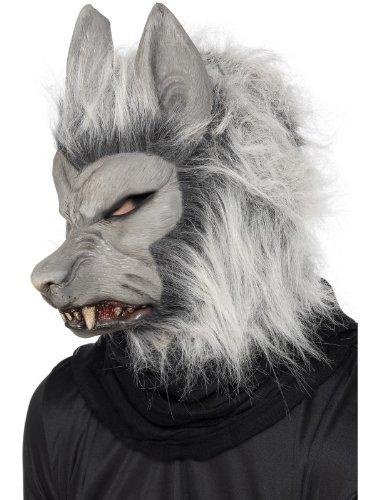 Smiffys Herren Werwolf Maske mit Haaren und Ohren, One Size, 24130 (Werwolf Kostüm Herren)