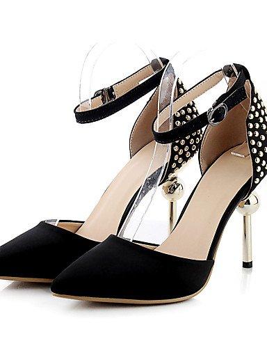 WSS 2016 Chaussures femmes satin talons printemps / été / automne / pointu orteil talons partie&soirée / robe / casual talon aiguille pink-us7.5 / eu38 / uk5.5 / cn38