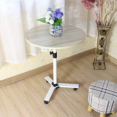 Unbekannt FEI Rack Laptop, Overbed Tisch - Swivel Wheel Rolling Tray Table - Verstellbares Bett Tisch für zu Hause oder Krankenhaus Lesen Frühstück Wagen -