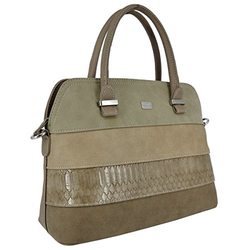 468682d8e1574 David Jones - Damen Bugatti Henkeltasche - Ladies Bowling Bag Multicolor  Streifen Schultertasche - Nubuck Croco ...