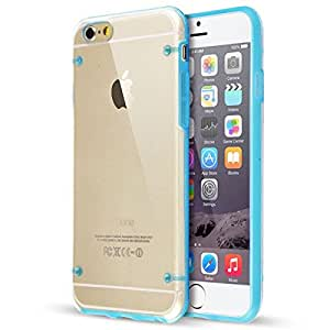 Top Quality For iPhone 6 4.7 inch TPU Luminous Shell Ultra Thin Hard Case Cover (Blue)