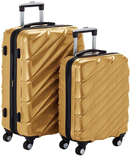 Shaik 7203134 Trolley Koffer, 2er Set (M, L), gold