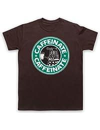 Dr Who Dalek Parody Caffeinate T-Shirt des Hommes