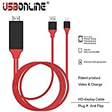 #10: Zuvi-Tech 8-Pin Lightning To HDMI Cable HDTV Adapter for iOS Devices (Red & Black)