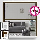Insektenschutz Alu Rollo System Comfort für Fenster Fliegengitter Alu-Bausatz Fensterrollo mit Fiberglas Gewebe individuell kürzbar Insektenschutzrollo Größe und Farbe wählbar, Farbe:Braun, Größe:100 x 160 cm