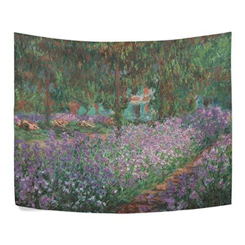 WIHVE Wandteppich Claude Monet Ölgemälde Wandbehang Kunst Home Decor Polyester Wandteppich für Wohnzimmer, Schlafzimmer, Badezimmer, Küche, Wohnheim, Polyester-Mischgewebe, Multi13, 80x60 Inch