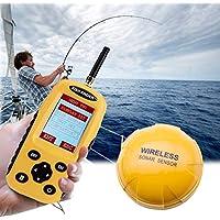 Al aire libre XF-03 Detector de peces inalámbrico 125 KHz Sensor de sonda 0.6-36 m Buscador de peces de profundidad de profundidad con pantalla LCD de 2.4 pulgadas y antena Sensor de temperatura de ag
