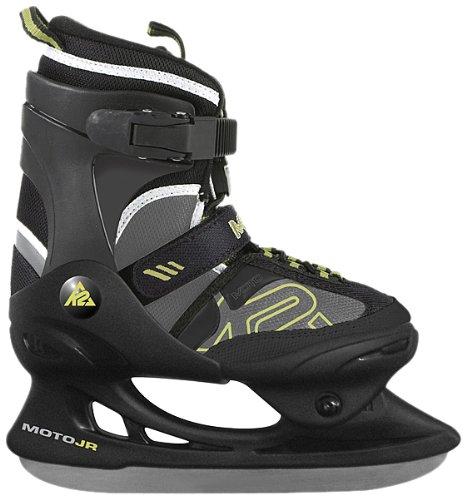 K2 Ice Skate Kinder Schlittschuhe Moto Junior, schwarz/grün/weiß, 34-36, 2500020.1.1.M