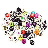AAGOOD Letter beads (400 pieces 6mm) 400Pcs Children DIY Bracelet Bead Art & Jewellery