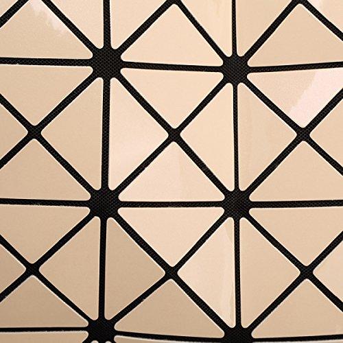 Sacchetto Di Spalla Di Cuoio Dell'unità Di Elaborazione Di Tote Della Grata Geometrica Di Modo Delle Donne Purple