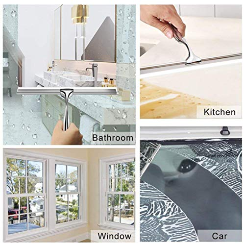 Happy Event Scheibenwischer-Reiniger aus Edelstahl | Rakel Dusche Badezimmer Spiegel Pinsel