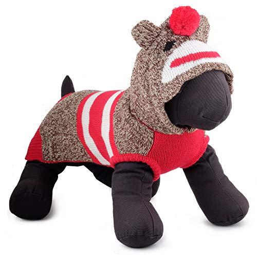 The Worthy Dog Socke der AFFE, Hoodie, Rot, ()