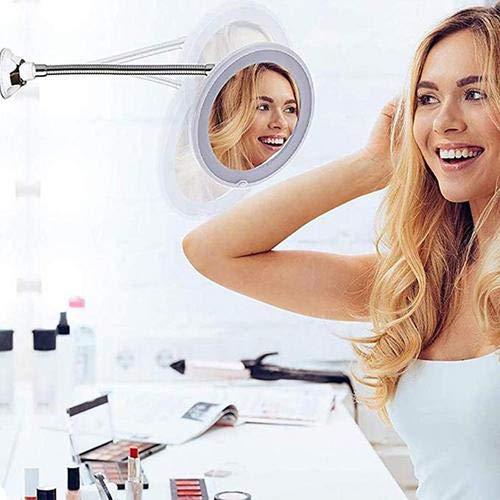 Soyin Espejo de Maquillaje LED con Aumento de 10X, Espejo de tocador del Cuarto de baño con la Ventosa...