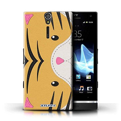 Kobalt® Imprimé Etui / Coque pour Sony Xperia S/LT26i / Panda conception / Série Cousu des Animaux Effet Tigre