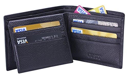 GUSTT Männer Royal RFID Blocking Leder Geldbörsen Bifold Wallet (G09) G07