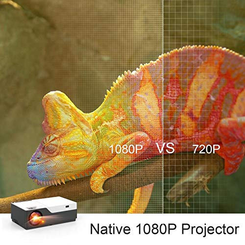 """51lq7oOAAhL. SS500  - Full HD Projector Artlii Native 1080P Projector 300"""" Display 5000:1 Contrast LED Video Projector with Zoom Compatible TV Stick HDMI VGA USB Xbox Laptop iPhone Android"""