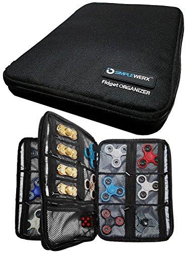 Semplice werx fidget spinner custodia organizer | portata superiore a 24+ fidgets | spinners | cubi | porta a doppio strato | | box | borsa