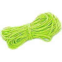 20m de cuerda de nylon 4mm reflectante para Camping tienda de campaña viento modelo Outdoor Gear cordón verde luminoso cuerda