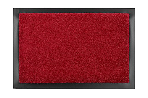 Astra FS1618015010 Sauberlaufmatte, Türmatte, Fußmatte Selena für den Innenbereich, 40 x 60 cm, rot