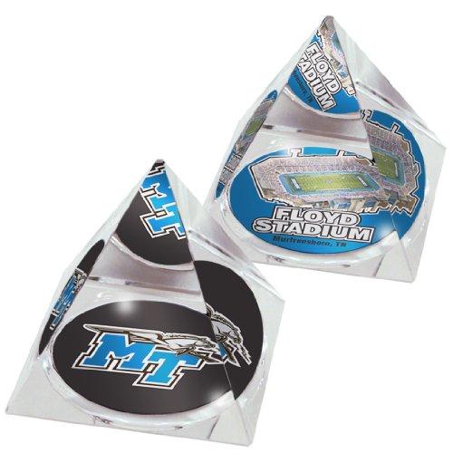 Paragon Bone China (NCAA Middle Tennessee State University blau Raiders Stadium und Logo in 5,1cm Kristall Pyramiden mit bunten verglaste Geschenk-Boxen; 2Stück)