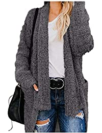 5bacfa463a1c Women Solid Overcoat,Mosstars Ladies Loose with Solid Pockets Knit Sweater  Cardigan Coat
