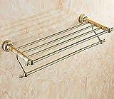 Sucastle,Continental antico rame porta asciugamano piegato,Materiale: acciaio inossidabile