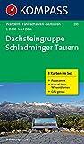 Dachsteingruppe - Schladminger Tauern: Wanderkarten-Set mit Panorama und Naturführer. GPS-genau. 1:25000 (KOMPASS-Wanderkarten, Band 293)