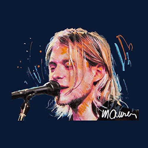 Sidney Maurer Kurt Cobain Singing Official Women's Sweatshirt Navy blue