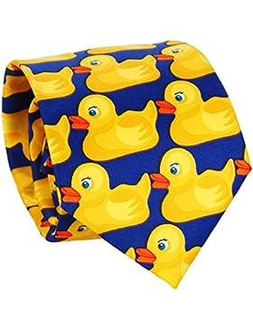 Corbata de Patos Azul y Amarillo - Corbata Original - Corbata de Disfraz
