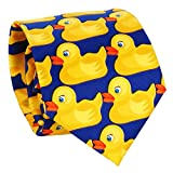 Cravate Canard Bleu et Jaune - Cravate Originale - Cravate Fantaisie - Déguisement